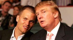 New England Patriots quarterback Tom Brady, seen here