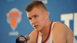 Kristaps Porzingis #6 of the New York Knicks
