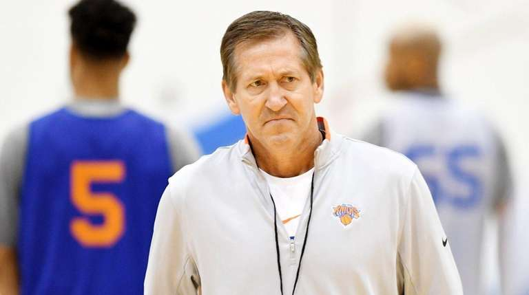Knicks coach Jeff Hornacek during the first day of
