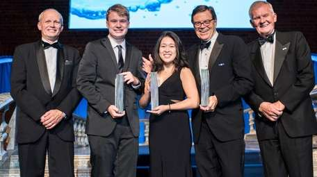 Ryan Thorpe, second from left, and Rachel Chang,