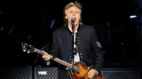 Paul McCartney performs Tuesday, Sept. 26, 2017, during