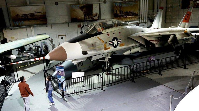 Grumman's F-14A Tomcat Navy fighter on display at
