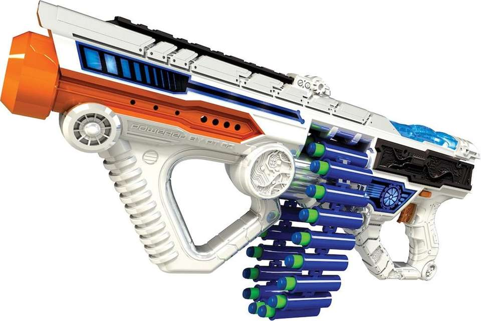 The Adventure Force Light Command Light-Up Motorized Blaster,