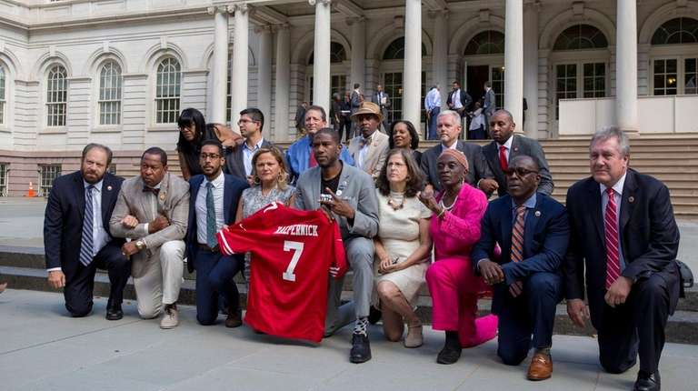 New York City Council members participate in a