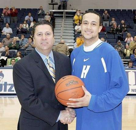 Hofstra men's basketball coach Tom Pecora, shown with