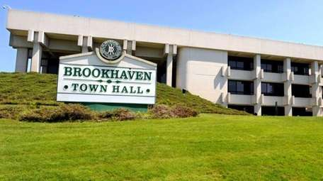 Brookhaven Town Hall, seen Aug. 14, 2017.