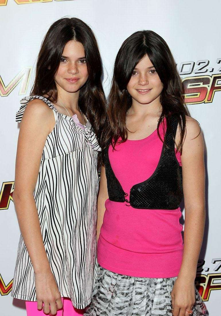 TV personalities Kendall Jenner and Kylie Jenner arrive