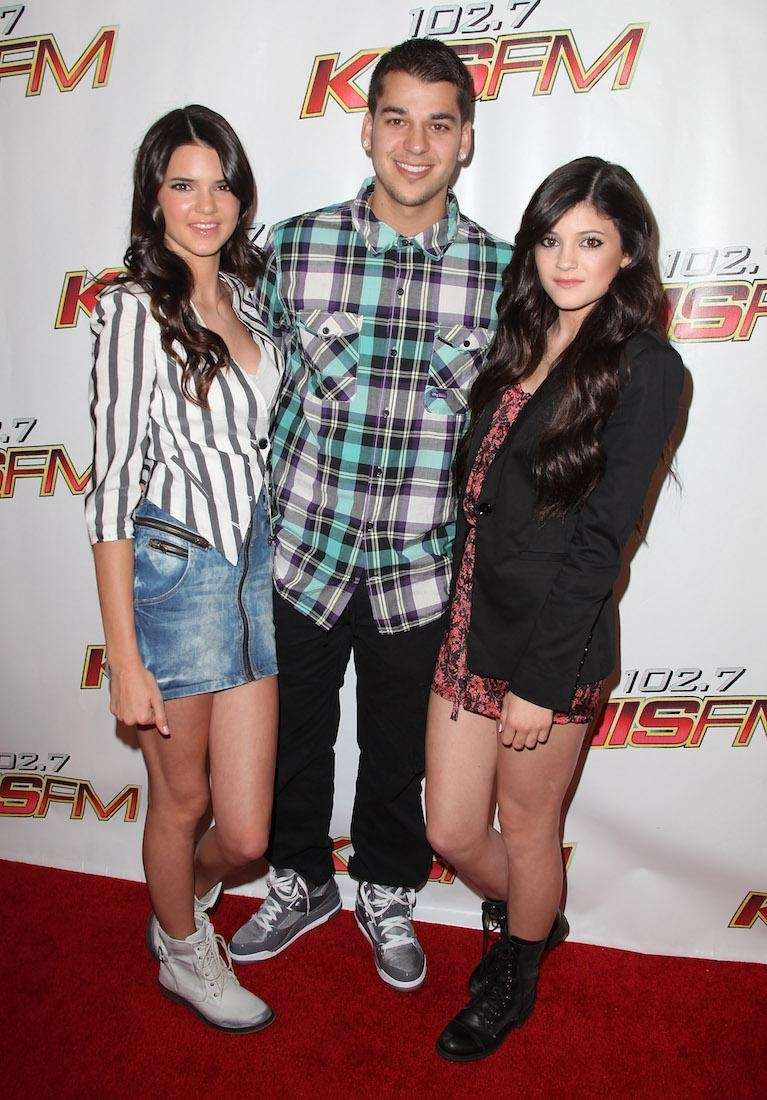 TV personalities Kendall Jenner, Robert Kardashian and Kylie