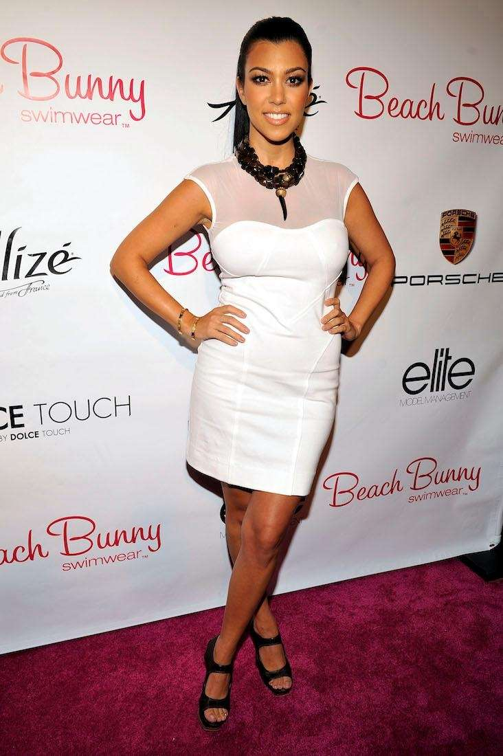 Kourtney Kardashian poses for a picture at the