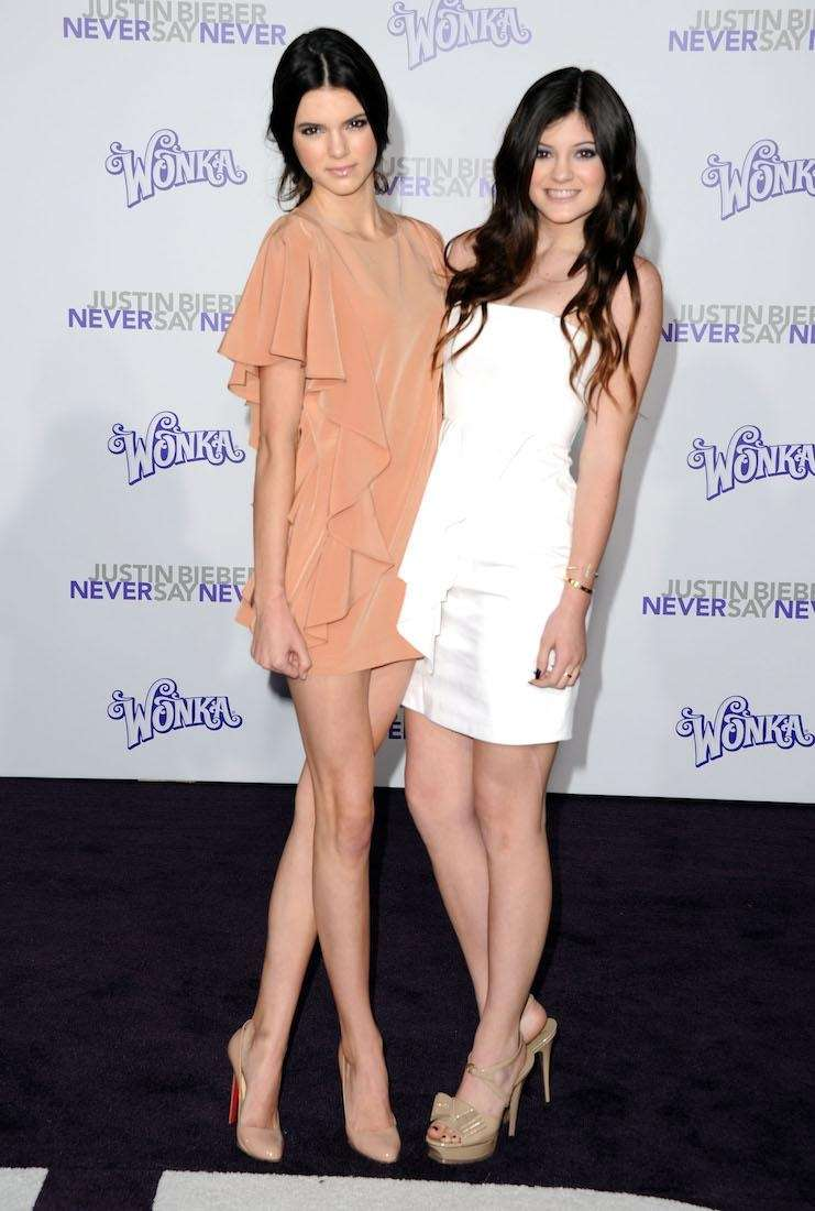 Kendall and Kylie Jenner arrive at the premiere
