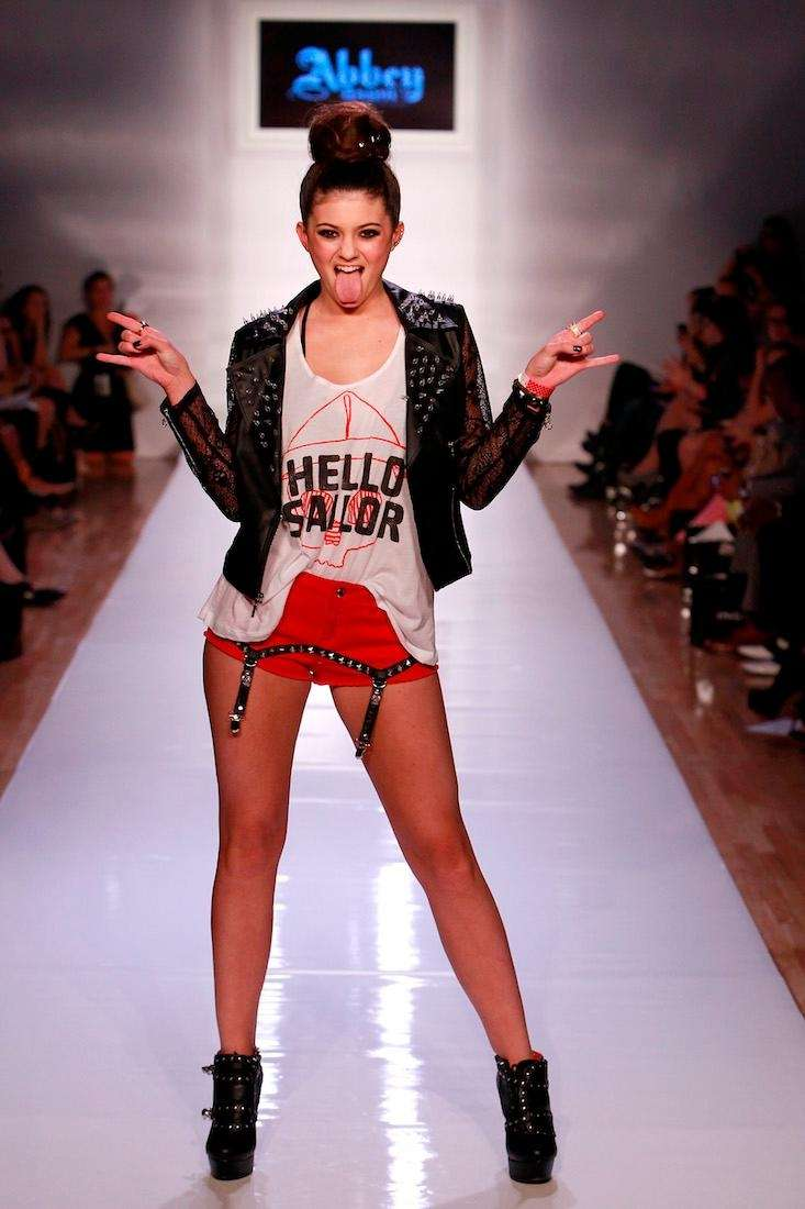 Kendall Jenner walks the runway in the Abbey