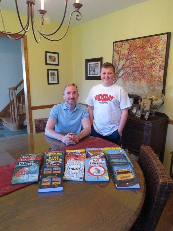 Author Raymond Bean and Kidsday reporter Aidan Shelbourne