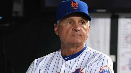 Mets manager Terry Collins looks on from the