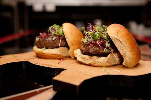 Beef sliders at Swallow in Huntington.