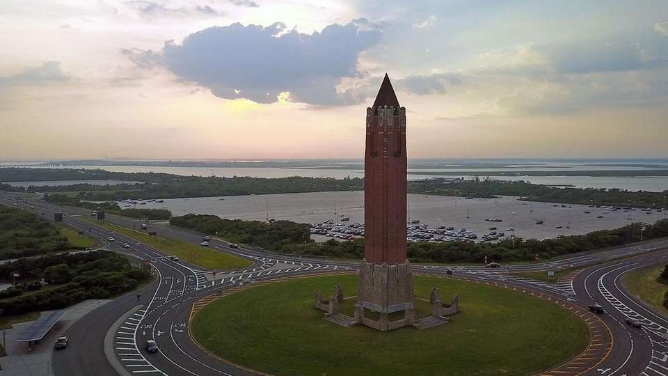 The Jones Beach 231-foot-tall water tower, erected in