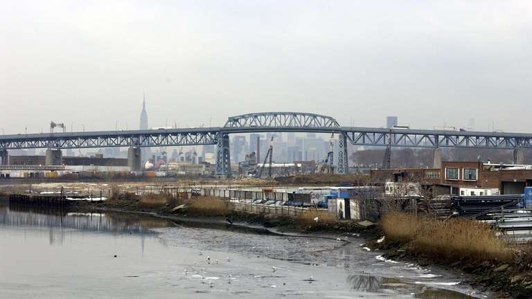The implosion of the old Kosciuszko Bridge is