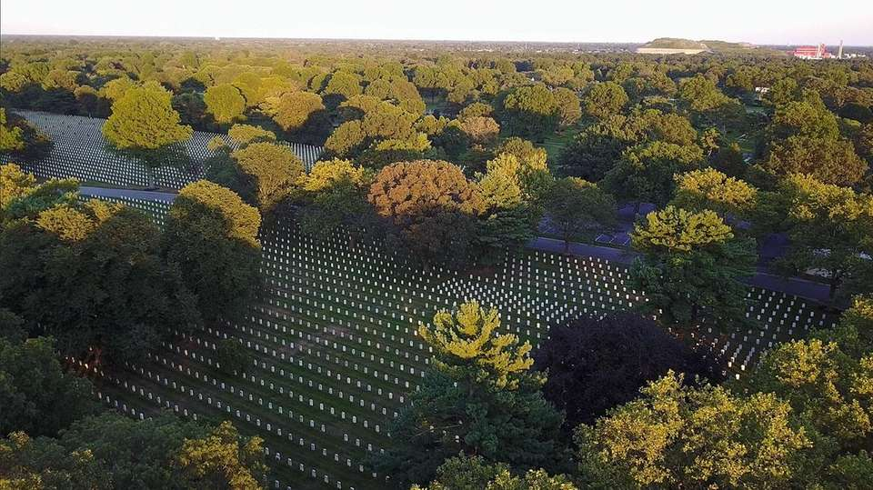 Long Island National Cemetery is seen on August