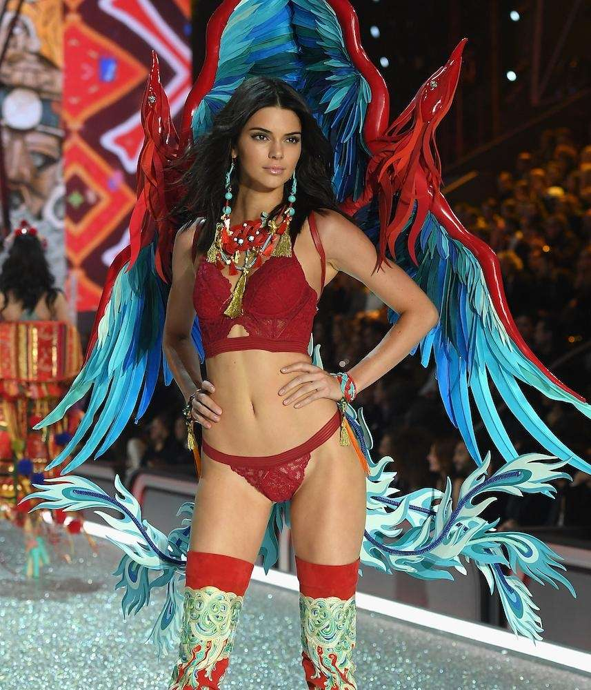 Kendall Jenner walks during the Victoria's Secret Fashion