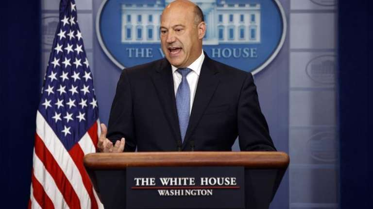 White House chief economic adviser Gary Cohn speaks