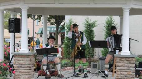 The Bavarian Boys performed for the crowd at