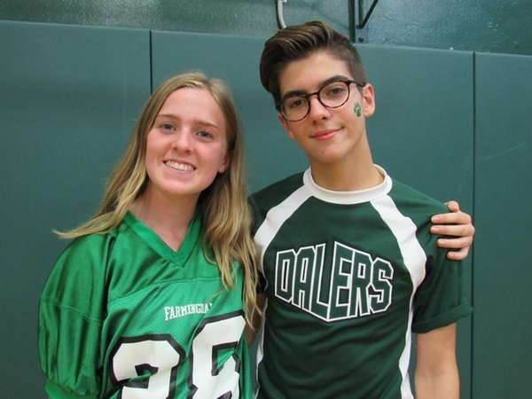 Farmingdale High School students Abigail Faber and Michael