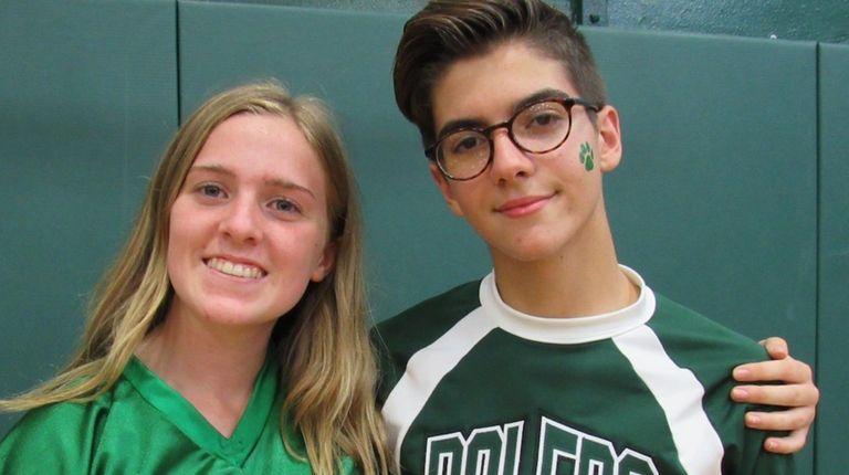 Farmingdale High School students Abigail Faber and Michael