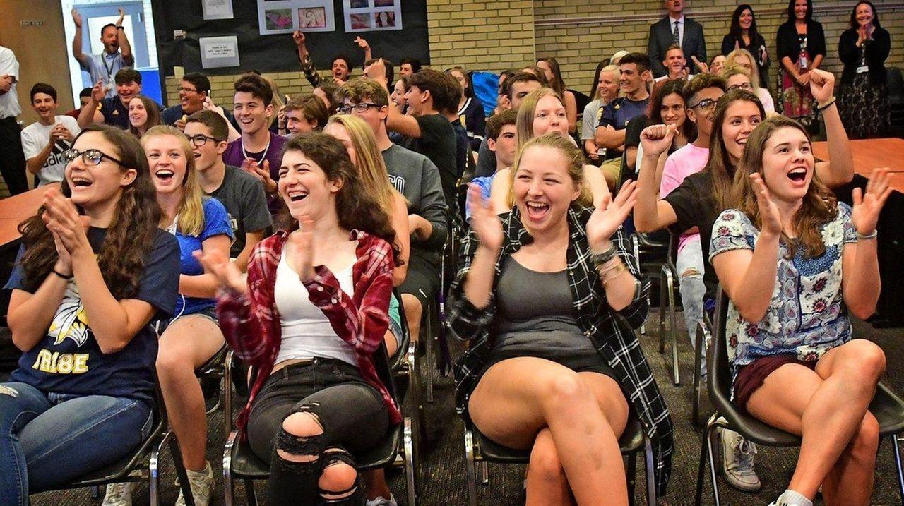 Massapequa High School students react to the announcement