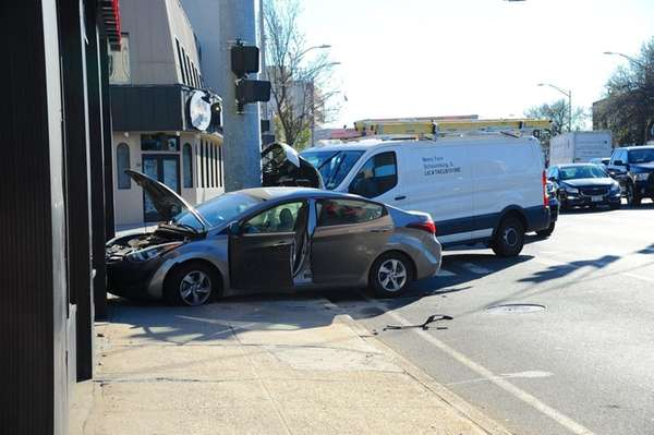 A two-vehicle accident briefly closed westbound lanes of
