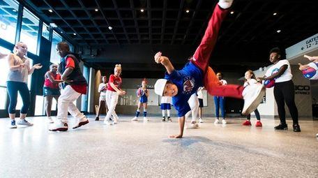 The Long Island Nets Kids Dance Team will