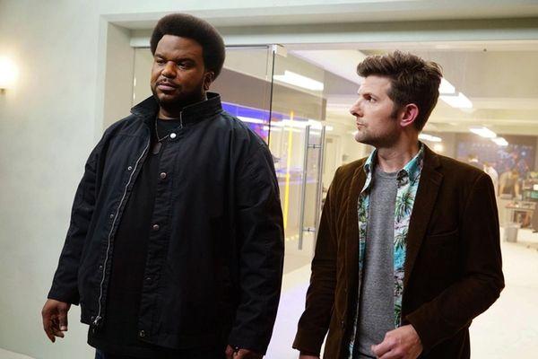 Craig Robinson, left, and Adam Scott are paranormal