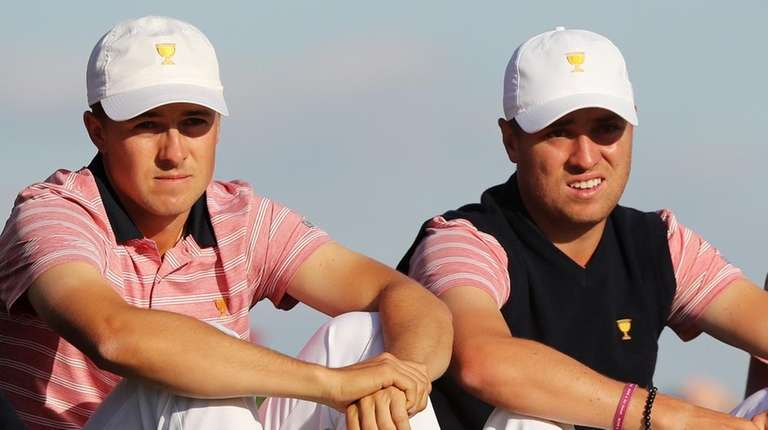 Jordan Spieth, Justin Thomas and Daniel Berger of