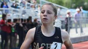 Molly Ramirez of Sachem North places second with