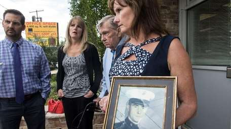 The family of Marine Cpl. Patrick Gallagher, an