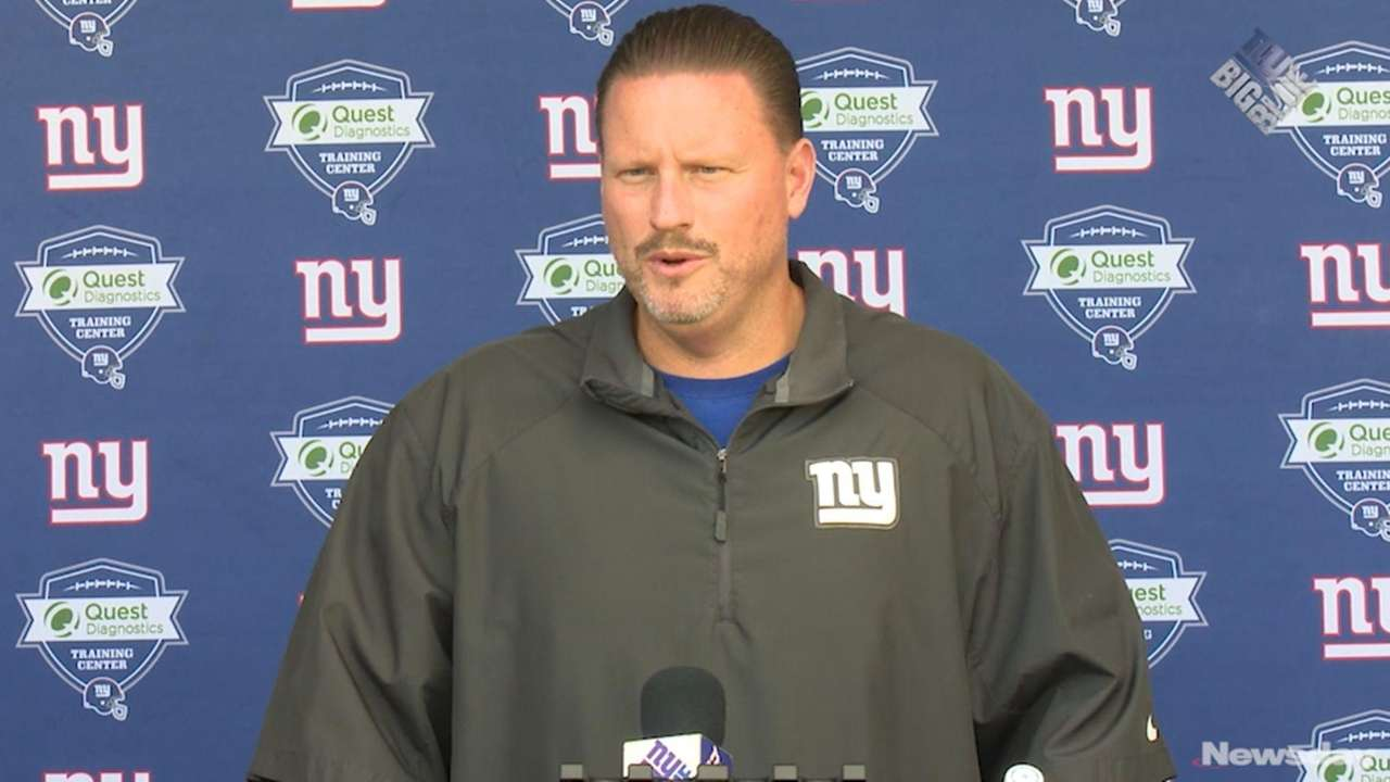 New York Giants head coach Ben McAdoo says