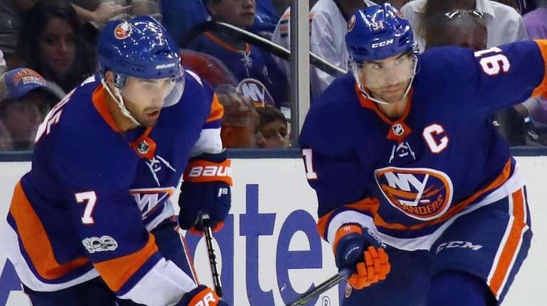 Jordan Eberle and John Tavares of the New
