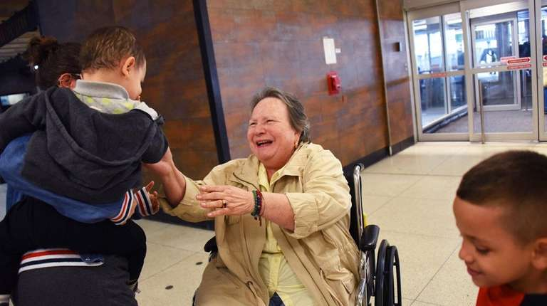 Laly Woodards, 75, of the Bronx, survived Hurricane