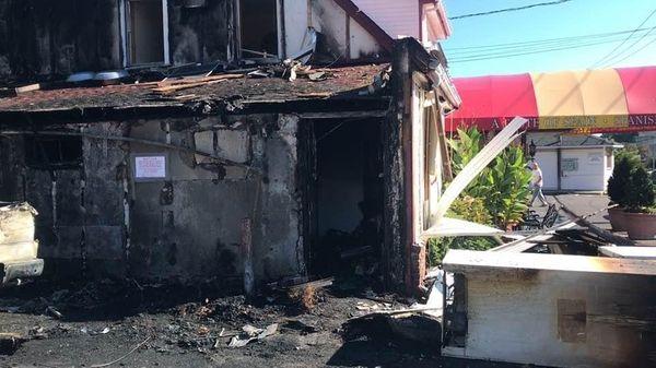 The Casa Luis restaurant, where a car slammed