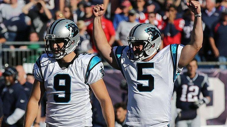 Panthers kicker Graham Gano and holder Michael Palardy