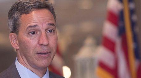 Jack Martins, Nassau County executive candidate, speaks at