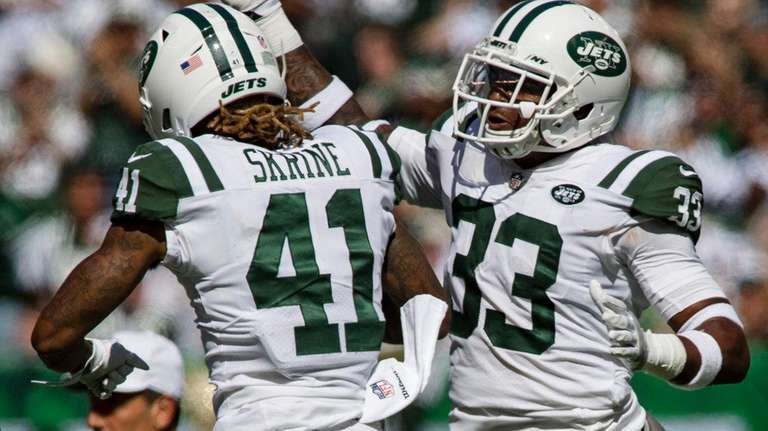 Jets cornerback Buster Skrine  and  strong safety Jamal