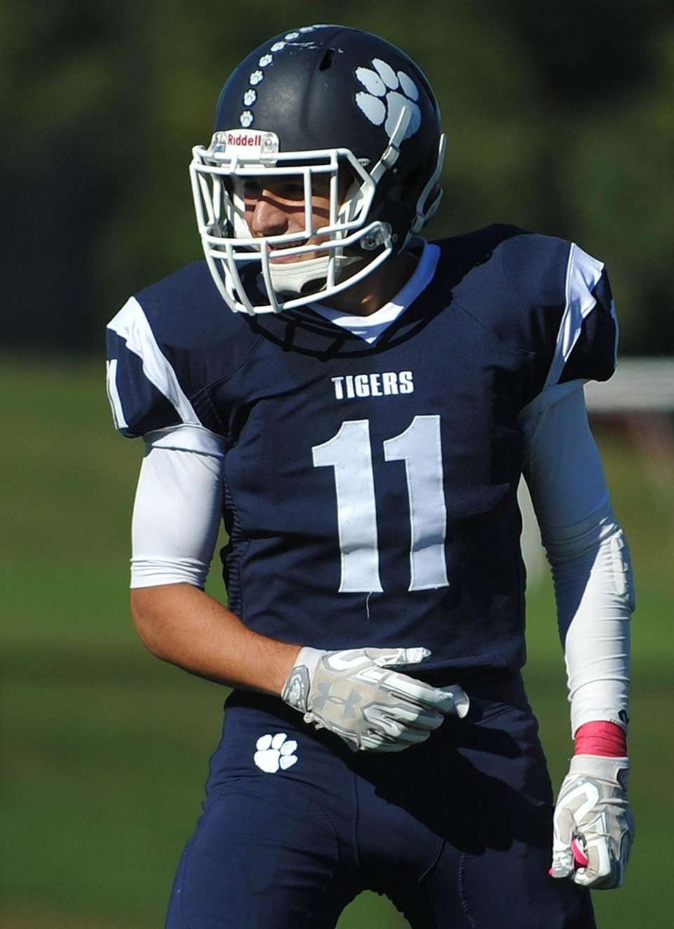 Max Napoli of Northport reacts after making an