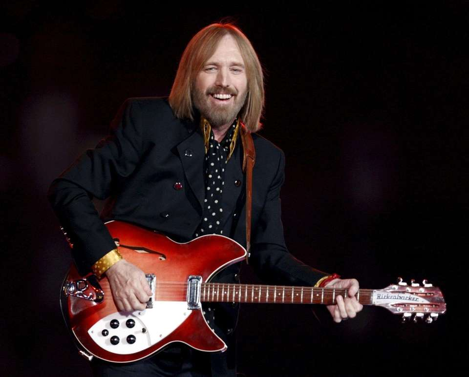 Tom Petty performs during the halftime show of