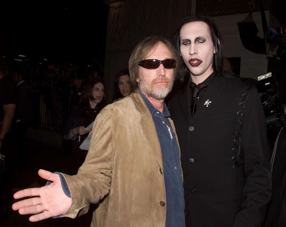 Tom Petty is seen with Marilyn Manson at