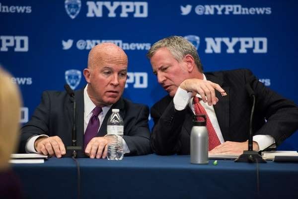 NYC Mayor Bill de Blasio and Police Commissioner