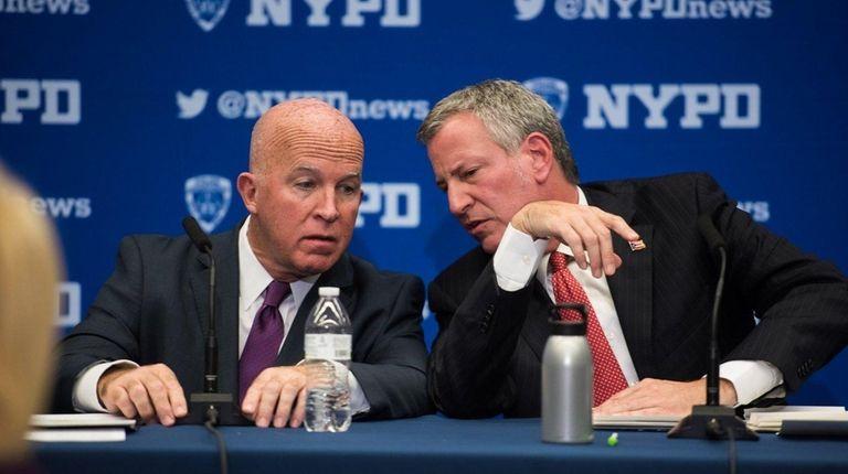 NYC Mayor Bill de Blasio and Police Commissioner