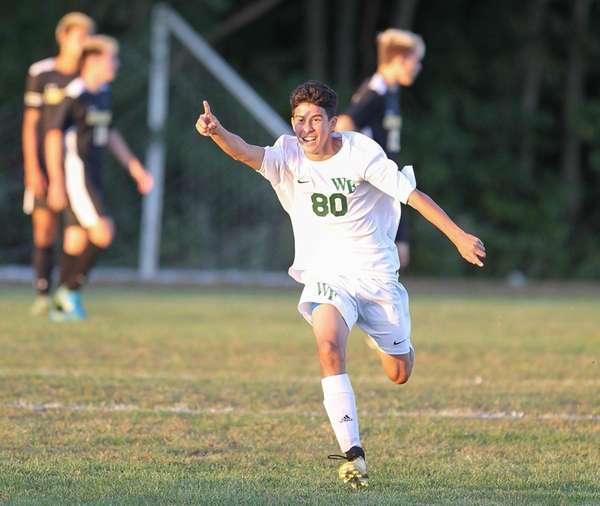Ethan Loarca after the winning goal in second