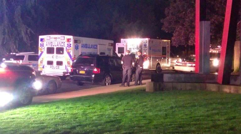 Two workers at Hofstra University in Hempstead were