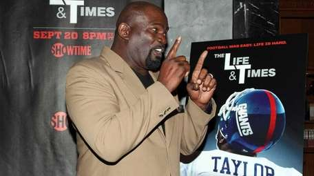 Lawrence Taylor at the premiere of the Showtime