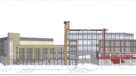 An artist rendering of the proposed YMCA in