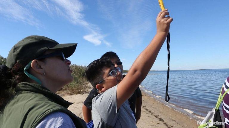Longwood Junior High School students gathered scientific data